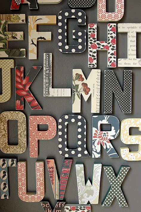 abc letras de madera scrap