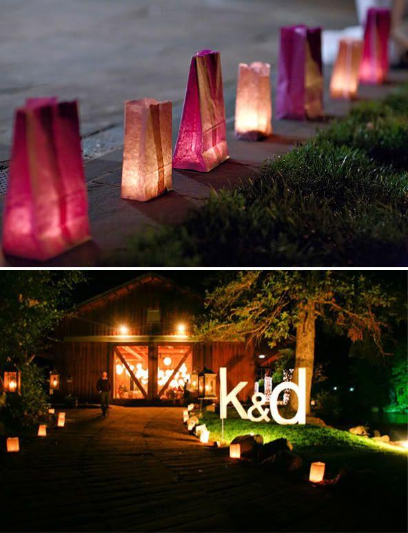 letras boda iluminadas