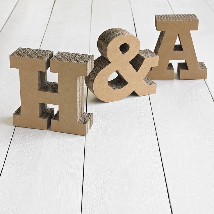 letras carton boda