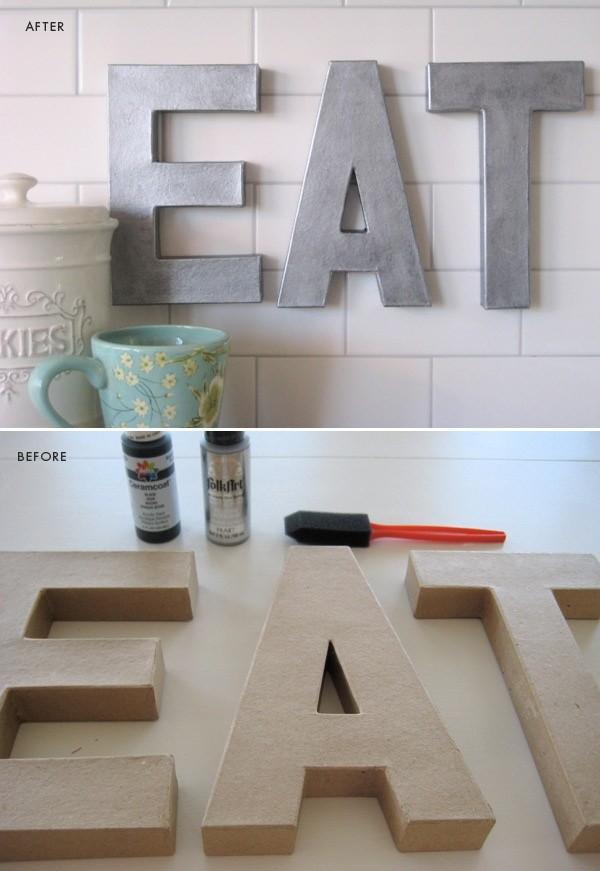 letras de carton metalicas
