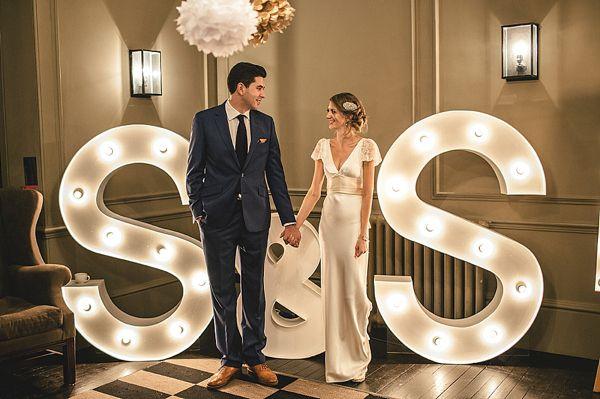 letras luminosas boda