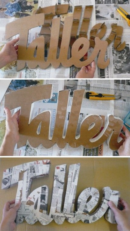 Decoracion Letras Carton ~ Letras de cart?n  Letras Decorativas