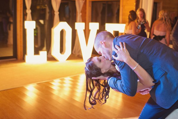letras boda luminosas love