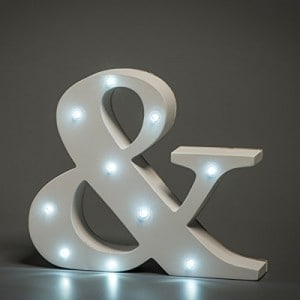 letra-&-con-luces